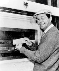 The inventor of the ATM, John Shepherd-Barron