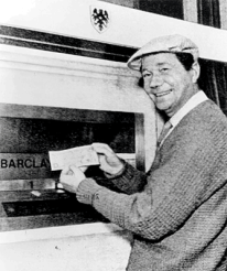 The inventor of the ATM, John Shepherd-Barron