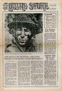 First Rolling Stone Magazine- featuring John Lennon